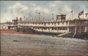 Floating Palace Ship Swallow & Markle Near Estherville IA c1910 Postcard
