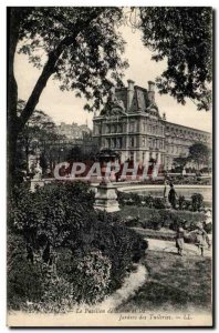 Paris Old Postcard Pavilion Rohen and the Tuileries gardens