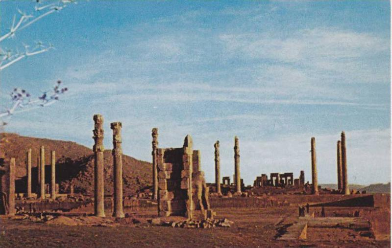 Pillars of Takhte Jamshid , Persepolis , Iran , 40-60s