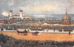 Gt. Yarmouth Wellington Gardens and Pier Pavilion Auto Car Voiture Carriage 1904