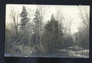 RPPC MISSOULA MONTANA RATTLESNAKE CREEK REAL PHOTO POSTCARD BANGS 1910