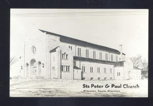 RPPC WISCONSIN RAPIDS WISCONSIN ST. PETER & PAUL CHURCH REAL PHOTO POSTCARD
