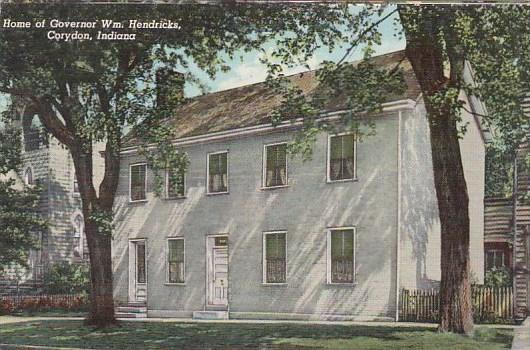 Indiana Corydon Home Of Governor Wm Hendricks