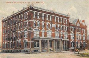 Clay Center Kansas view of Bonham Hotel and Opera House antique pc ZD549845