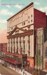 c1907 Printed Postcard; Manhattan Opera House, New York NY Unposted