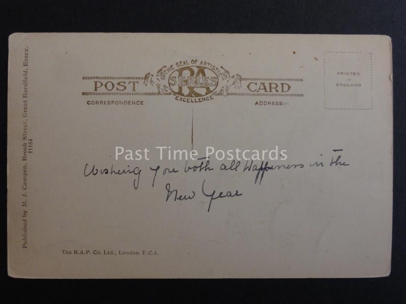 Essex FINCHINGFIELD shows THE FOX INN Old Postcard by M.J Campen, Gt. Bardfield