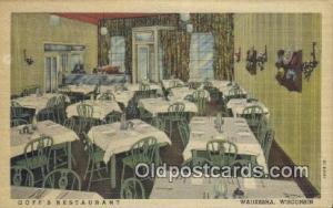 Goffs Restaurant, Waukesha, Wisconsin, WI USA Hotel Postcard Motel Post Card ...