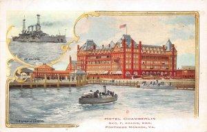 LPS23 Fortress Monroe Virginia Hotel Chamberlin Postcard Views Steamship