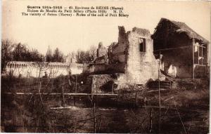 CPA Militaire - Env. de Reims - Ruines du Moulin du Petit Sillery (698158)