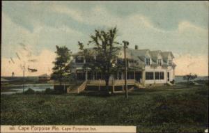 Cape Porpoise ME Inn c1910 Postcard