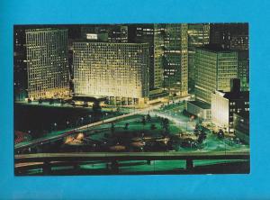 Postcard Dowtown Pittsburgh Hilton Hotel Pittsburg Pennsylvania # 597