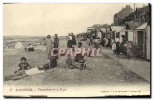 Old Postcard Langrune Vue Generale de la Plage