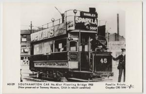 Hampshire; Southampton Car No 45 At Floating Bridge, 1903 RP PPC, Pamlin, M3129