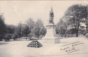 Indiana Fort Wayne Monument and Canon Balls 1906 Rotograoh