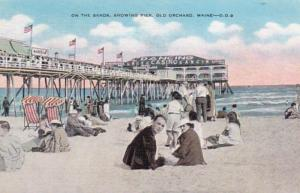 Maine Old Orchard On The Sands Showing Pier 1946