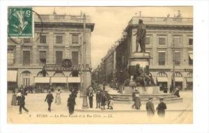 Reims, France ,PU-1907  La Place et la Rue Ceres