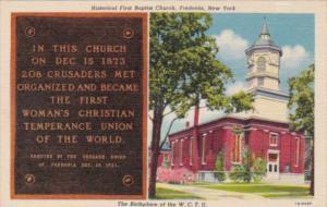 New York Fredonia First Baptist Church Curteich