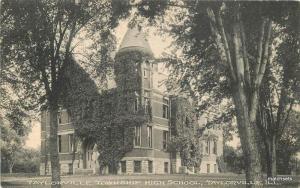 1909 Taylorville Township High School ILLINOIS Postcard 4323