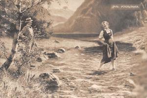 Russia Painting, Nature, Creek, Elegant Man, Lady