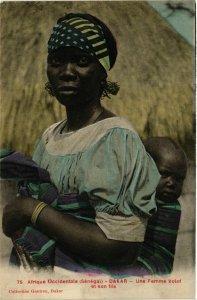 CPA AK Dakar Une Femme Volof et son fils SENEGAL (821868)