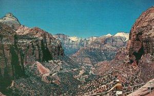 Zion National Park, UT, Switchbacks, Mt. Carmel Highway, Vintage Postcard g9262
