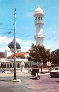 Malaysia Old Vintage Antique Post Card Muslim Mosque Penang Unused