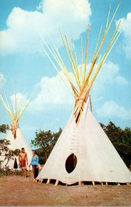 Oklahoma Indian City Two Indian Guides & Teepees