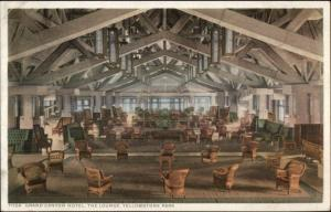 Yellowstone Grand Canyon Hotel Lounge Detroit Publishing 71154 EXC COND