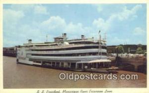 SS President, Mississippi River Excursion Liner, Mississippi, MS USA Ferry Sh...