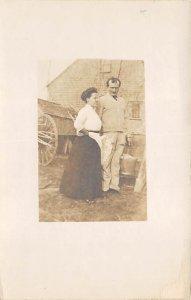 Real Photo Postcard Man and Woman Unused