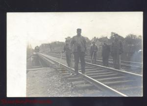 RPPC MILLERSBURG PENNSYLVANIA RAILROAD CONSTRUCTION CREW