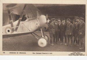 ANZACS in France , New Zealand Premir's Visit, War 1914-18