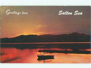 Pre-1980 BOAT SCENE Salton Sea - Near Indio & Salton City California CA AF4309