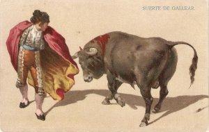 Bullffighting. Suerte de gallear· Old vintage Spanish postcard