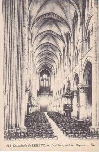 France Lisieux La Cathedrale Interieur cote des Orgues