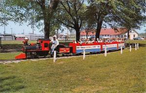 Sedalia Missouri~Liberty Park~Miniature Train Ride~Centennial Flyer~1960 PC