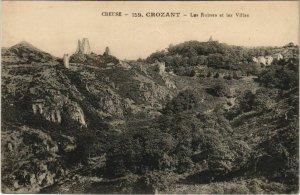 CPA CROZANT Les Ruines et les Villas (1143679)