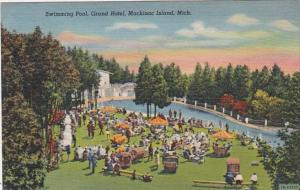 Michigan Mackinac Island Swimming Pool Grand Hotel Curteich
