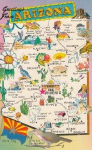 MAP : Arizona , 1950-60s