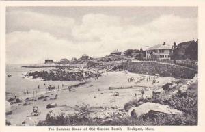 Massachusetts Rockport The Summer Scene At Old Garden Beach Albertype
