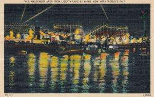 NYC , World's Fair , 1930s ; Amusement Area at night