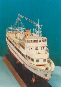 Postcard Mahart's motor vessel ferry on Lake Balaton boat model