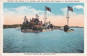 Zavikon Island & International Bridge - Ontario - New York - Thousand Isl
