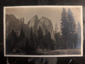 Mint USA RPPC Postcard Cathedral Spikes And Rocks CO