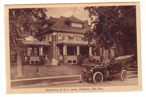 Residence of O L Lewis,  Chatham, Ontario, Great Model T Type Car