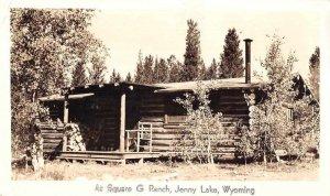 Jenny Lake Wyoming Square G Ranch Real Photo Vintage Postcard JF686537