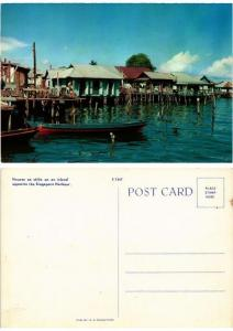 CPM Houses on stilts on an island opposite the Singapore Har INDONESIA (730175)