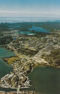 Aerial View Looking South, Yellowknife Bay and Old Town, Yellowknife, Northwe...