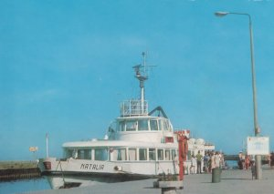 Natalia Polish Boat Ship at Utska Port Harbour Poland Postcard
