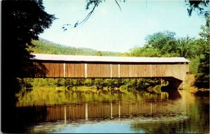 HILLSGROVE , Pennsylvania PA - Covered Bridge - Postcard Old Vintage Card